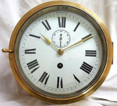 Brass Cased Ship Clock.