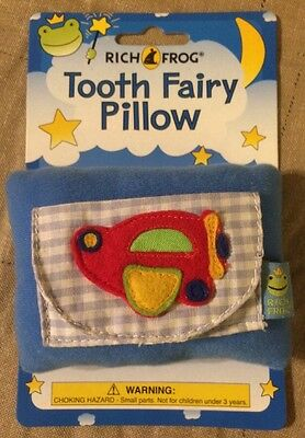 Rich Frog Miniature Tooth Fairy Pillow - Airplane