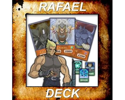 Yugioh Orica Anime Cosplay RAFAEL Deck of 42 cards - Custom Backing