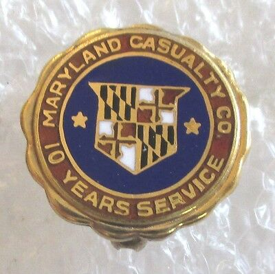 Vintage Maryland Casualty Insurance Company 10 Year Service Award Pin