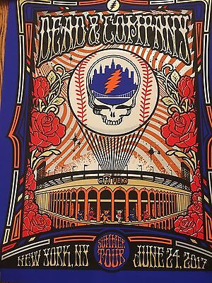 Grateful Dead & And Company Citi Field New York 6/24 Tour Poster #/950 Sold Out