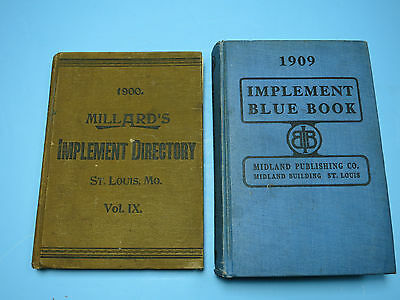 Deere and Other Co's Reference Books - 1909 Implement Blue Book & 1900 Mallards