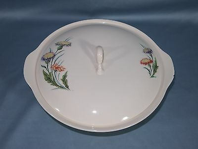 Universal Pottery Ballerina China THISTLE Covered Vegetable Dish Purple Flower