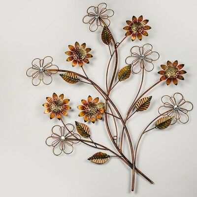 Wall Flowers Metal Art
