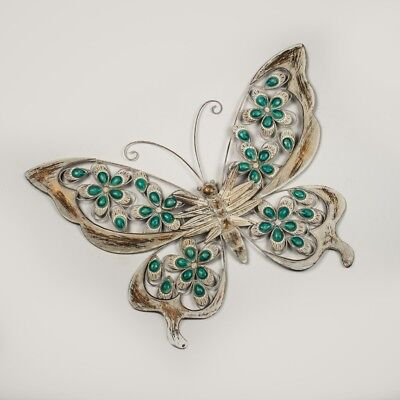 White Butterfly Wall Hanging Metal Art