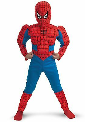 Boys Kids Muscle Spiderman Muscle Cosplay Superhero Outfit Costume 2-6 Years