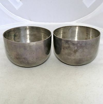 "2 Vintage Japanese or Chinese Sterling Silver Tea or Sake Cups  (104.3g, 2.4"")"