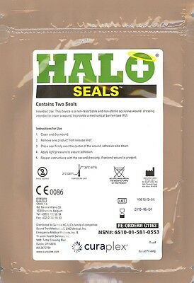 PMI HALO Seals Chest Seal exp 06/2018 2/Package NSN New Occlusive Dressing
