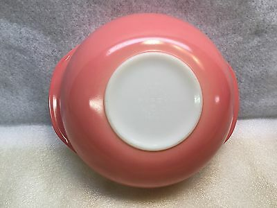 Two Vintage~Pyrex~Pink & yellow 2 Quart #024 Serving Bowls Casserole Ovenware.