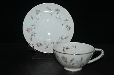 Japan China Rose Bouquet Cup and Saucer
