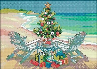 Christmas Tree (2) 14CT counted cross stitch kit, 30cm x 21cm fabric. CSK0377