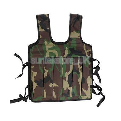 35kg Max Loading Weighted Vest Strength Training Running Gym Waistcoat Camo