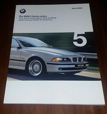 BMW Brochure 2000 5 Series 528i 540i 6-Speed E39 Collectible Memorabilia