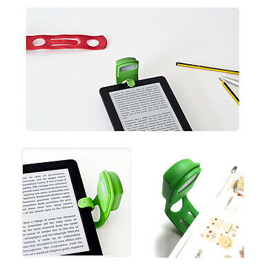 LED Bookmark Light Portable and Foldable Clip on LED book Reading Lamp(grass)