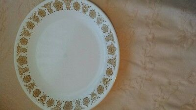"""Corelle 10 1/4"""" Butterfly Gold Dinner Plates Set Of 4"""