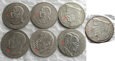 16 Different Adolf Hitler Exonumia Coins. Choose the ones you want.