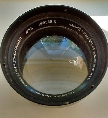 Vintage Bausch & Lomb Opt Co. Anastigmat Focal length f/5.6 20 inch (508 MM)