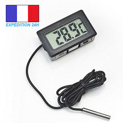 Thermomètre digital LCD + sonde pour aquarium, piscine, frigo ...