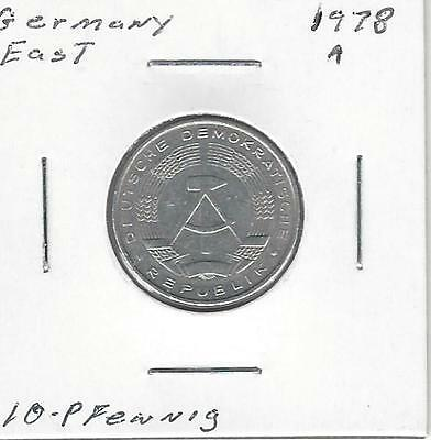 Germany East 10 Pfennig, 1978 A