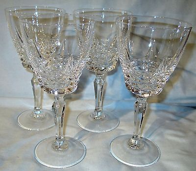 "Crystal Cristal d'Arques Durand Chateaudum Water Goblet Glasses 7 1/4"" set of 4"