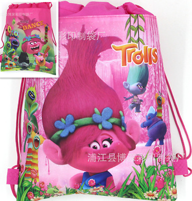 Movie Trolls Poppy Branch bag Swimming Clothes Environmental PE Toy BackpacksNew