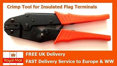 Crimp Tool for Insulated 4.8mm + 6.3mm Flag Terminals 1.25mm² - 2.5mm²