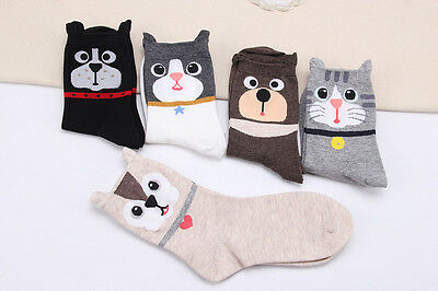 Lovely Cute Cat Dog Bear Ladies Womens Girls Socks Combed Cotton Great Quality