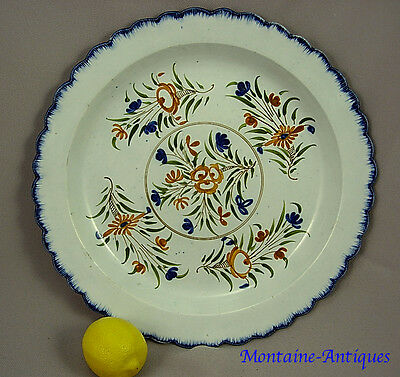 Absolute Finest Large featheredge Pearlware Charger c. 1790