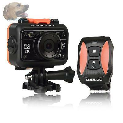 SOOCOO Waterproof Sports Camera, Soocoo Full HD 1080p action camera 170 Degrees