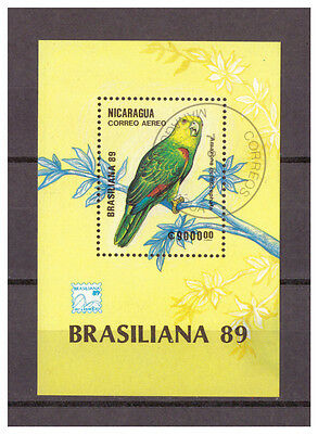 Nicaragua, Papageien | Parrots MiNr. 2950 Block 184, 1989 used