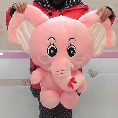 big lovely plush elephant toy stuffed cute pink elephant doll gift about 60cm