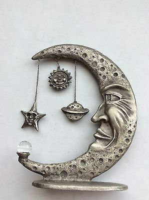 Pewter Spoontiques HM1193  Moon, Star, Planet, Sun Crystal