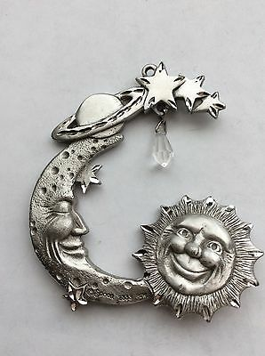 Pewter Spoontiques 2333  Moon, Stars, Planet, Sun Crystal