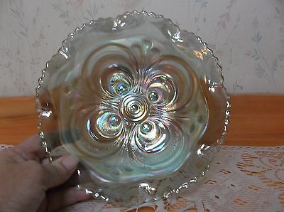 Beautiful Vintage Imperial Ice Green Scroll pattern Bowl