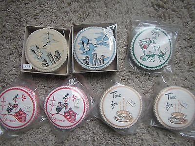 Vintage Mixed Lot Of 100 Nos Paper Coasters - Iop