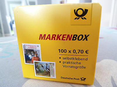 briefmarken 0 70 euro selbstklebend in box orig verp 70 cent versichert eur 64 00. Black Bedroom Furniture Sets. Home Design Ideas