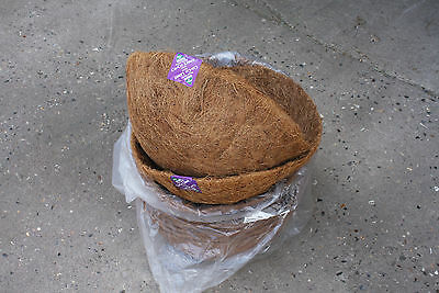 "11 X 16""natural Fiber Moulded Coco 16"" Hanging Basket Liner"