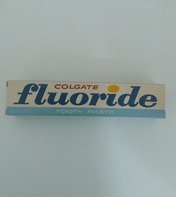 Vintage Old Colgate Fluoride Toothpaste New Old Stock from the 60's