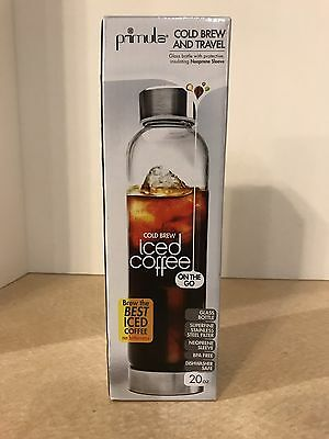 New PRIMULA Cold Brew and Travel Bottle Ice Coffee On the Go - 20 oz