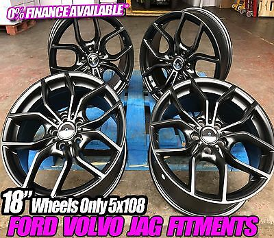 """18"""" Ford Focus New Rs Alloy Wheels Mondeo Transit Connect St Zetec S/c-Max 5X108"""
