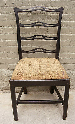 Antique Chippendale Ribbon back  Chair early Paint c. 1780