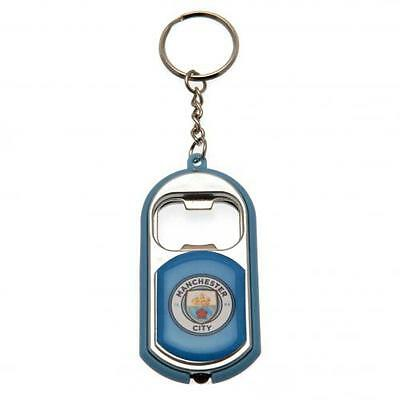 Manchester City FC Key Ring Torch & Bottle Opener on a Chain
