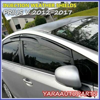 Injection Weathershields Weather Shields Window Visors for PRIUS V 2012-2018