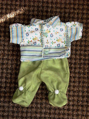 "14"" Cabbage Patch Preemie Doll Clothes~Footed PJ's/Pajamas~Baby Print"