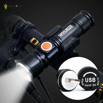 Professional USB Rechargeable Bicycle Flashlight LED 800 Lumen Bike Waterproof