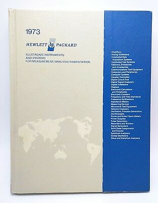 HP Hewlett Packard 1973 Product Catalog - employee copy inc HP-35 calculator
