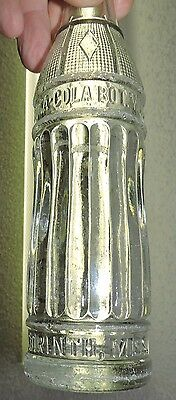 "Rare Antique Original Coca Cola  Diamond Design Bottle  "" Corinth, Miss.  """