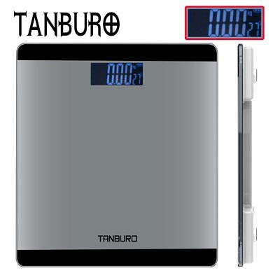 TANBURO Digital Bathroom Scale 400lb/180kg Slim LCD Electronic Body Weight Fat