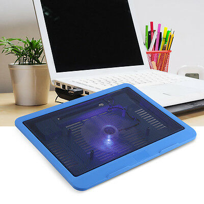 Portable Laptop Notebook USB Cooler Cooling Pad Base Stand Powerful Fan Radiator