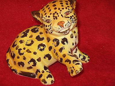 Vintage Hollywood Regency - Italian Porcelain Cheetah Kitten Home Decor